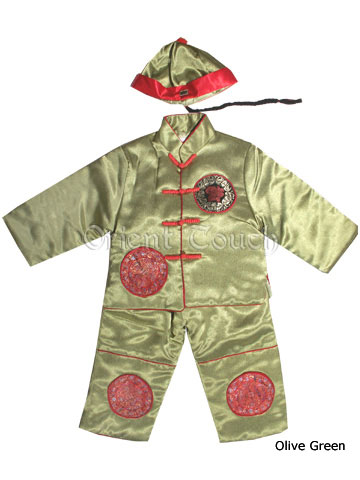 Cute Boy Quilted Suit with Cap