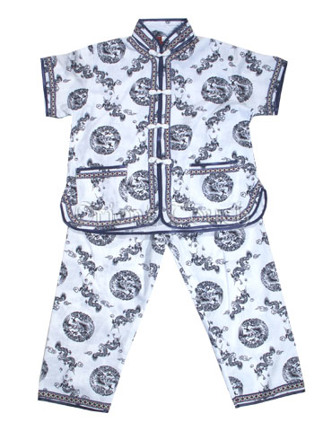 Boy's Short-Sleeved Suit - Dragon