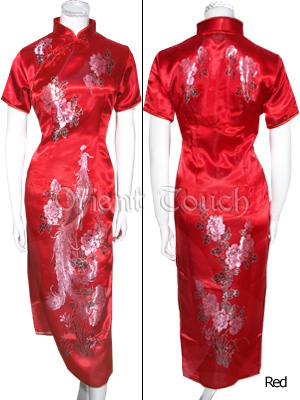 Bargain Item - Magnificent Peony and Phoenix Cheongsam
