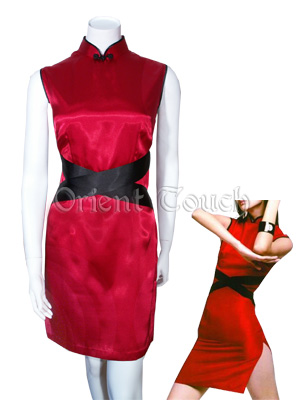 Bargain Item - Stylish Sleeveless Cheongsam