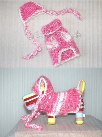 Doggie Clothing - Pink Sweater