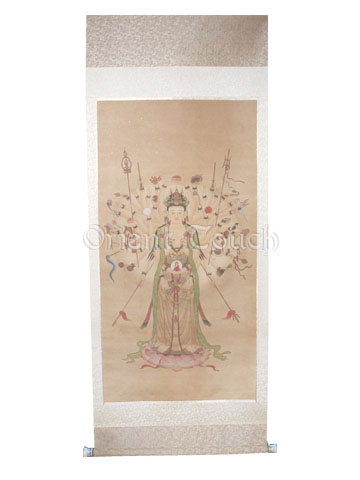 Chinese Painting - <br>Kwan-yin with A Thousand Arms