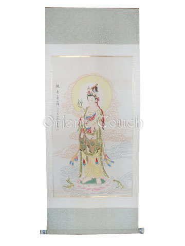 Chinese Painting - <br>Kwan-yin with A Willow in Hand