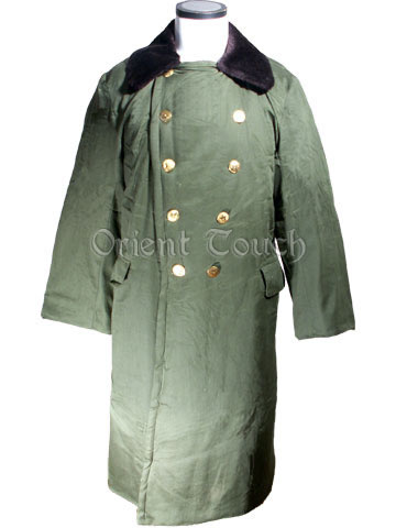 Chinese Red Army Winter Coat with Artificial Fur Collar