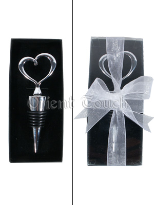 Silvery Hearted Winebottle Stopper