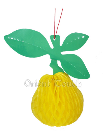 Paper-cut Yellow Pear