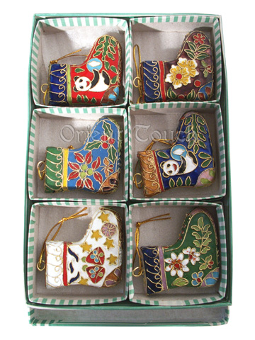 Christmas Tree Decoration - Cloisonn