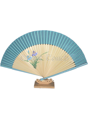 Hand-Painting Rayon Folding Fan - Orchid