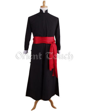 Mandarin Gown with Red Sash