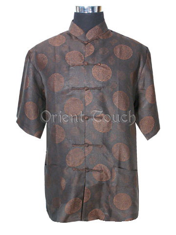 Old Shanghai Short-Sleeved Shirt - Double Happiness and Blessing