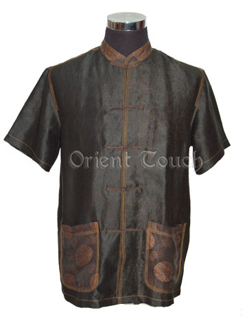 Men's Xiangyun Silk Short-Sleeve Shirt - Blessing Icons