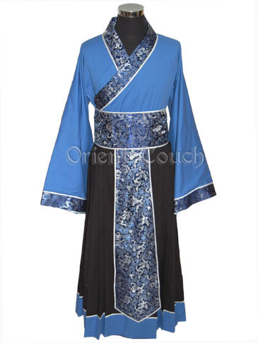 Men's Chinese Hanfu with Black Skirt