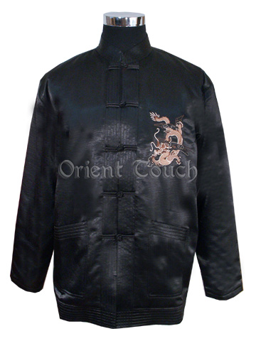 Vigorous Dragon Thin Wadded Embroidery Jacket