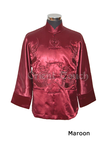 Men's Wadded Jacket - Two Dragons Teasing a Pearl