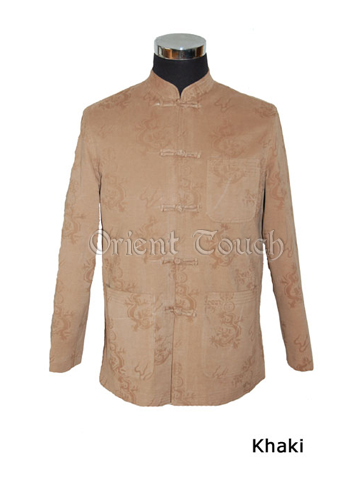 Men's Cotton Jacket - Dragon Prints