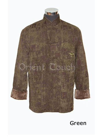 Men's Linen Jacket - Dragon Embroidery