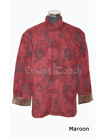 Men's Linen Jacket - Huddling Dragon Printing