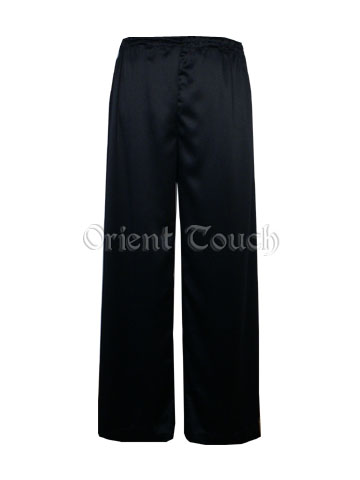 Satin Kung-Fu Straight Leg Pants