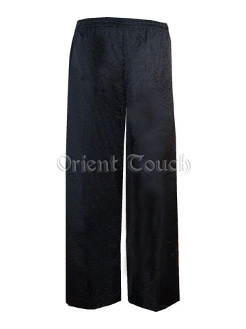 Men's Straight Leg Silk Brocade Pants