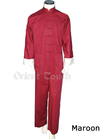 Men's Cotton Kung Fu Suit - Maroon