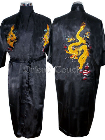 Polyester Flying Dragon Embroidery Robe