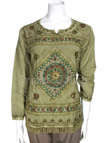 Ethnic Apparel - Embroidery Tassel Blouse