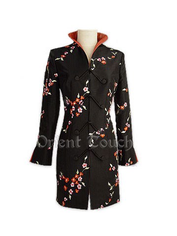 Posy Embroidery Thai Silk Coat