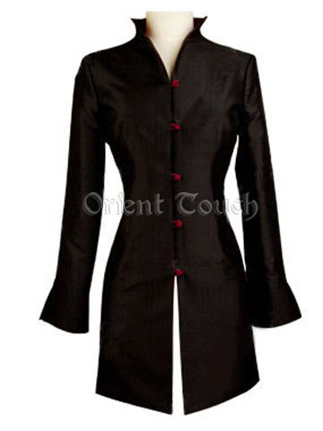 Plain Pure Silk Coat