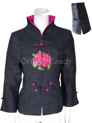 Charming Peony Embroidery Jacket