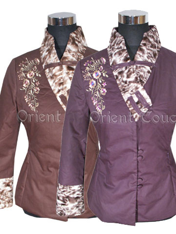 Asian Beauty Embroidery Thin Wadded Jacket