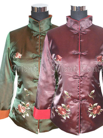 Blooming Peonies Quilted Jacket