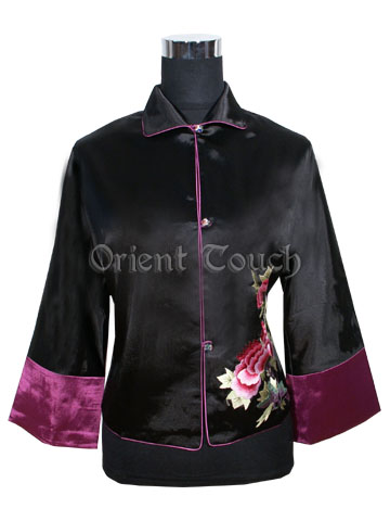 Women's Embroidery Jacket - Blooming Peony