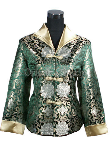 Silk Brocade Jacket - Blessing Floral