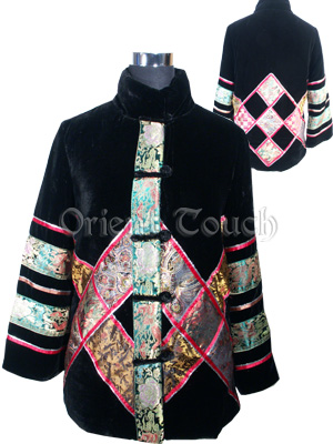 Luxuriant Velour Quilted Jacket