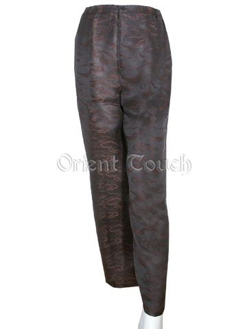 Women's Heung Wun Silk Pants - Floating Cloud