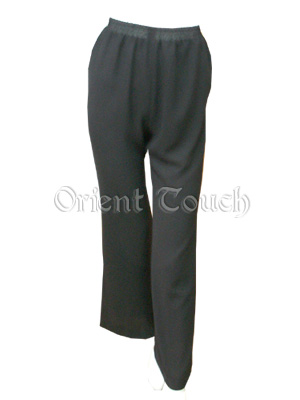 Woman's Straight Leg Chiffon Pants