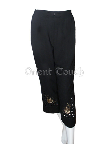 Woman's Straight Leg Embroidery Pants
