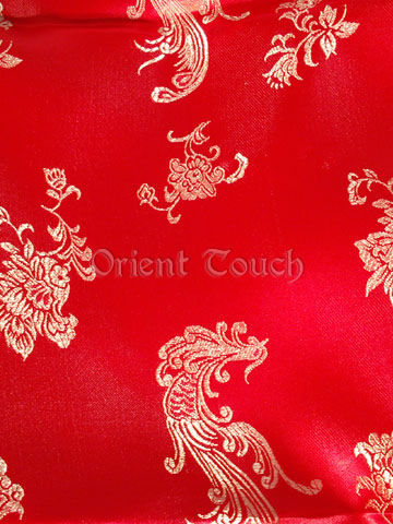 Flying Phoenix and Blooming Peony Brocade