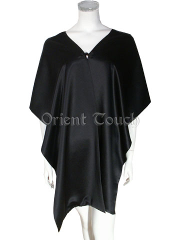 Satin Shawl - Plain Black
