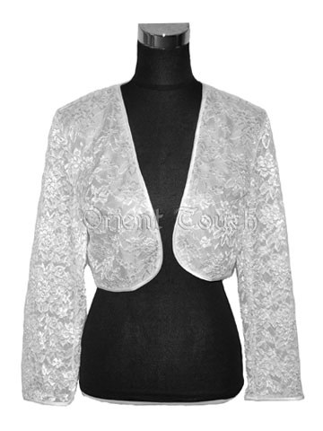Chic Lace Shawl Jacket - No Collar
