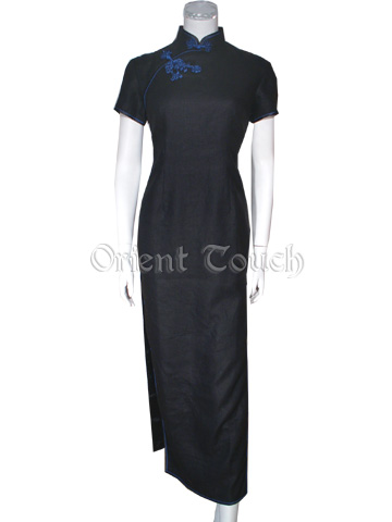 Tao Hong Series - Decent Peeress Short-Sleeved Cheongsam