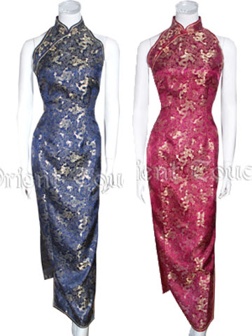 Dancing Dragon Brocade Cheongsam