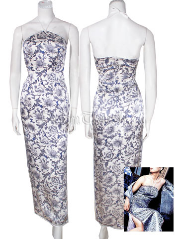 Blessing Floral Improved Mandarin Banquet Dress