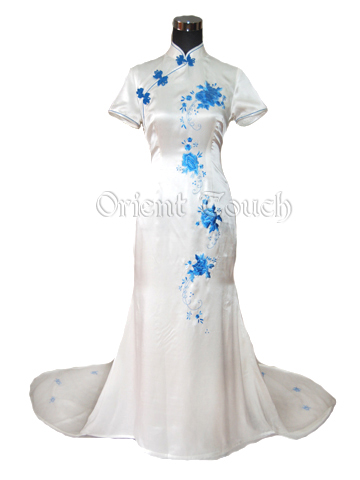 Junoesque Mandarin Wedding Dress
