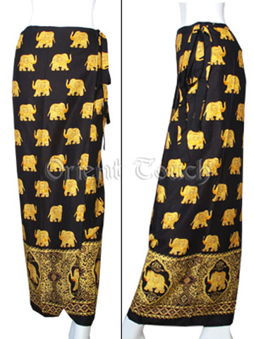 Ethnic Apparel - Thai Elephant Wrap Skirt