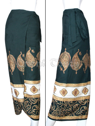 Ethnic Apparel - Thai Leaf Wrap Skirt