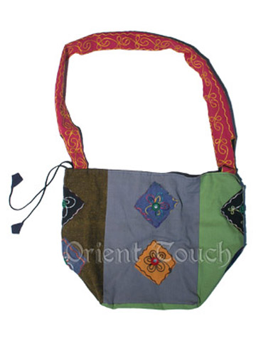 Ethical Embroidery Bag with Mirrors