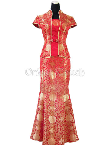China Red Magnificent Wedding Suit