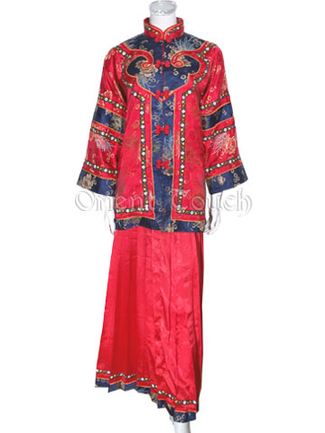 Female Archaistic Skirt Suit - Longevity Chrysanthemum