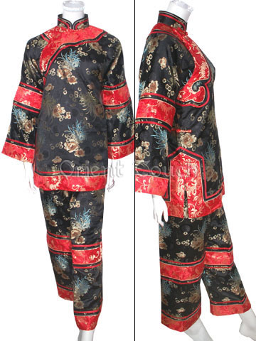 Female Archaistic Pants Suit - Longevity Chrysanthemum